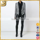 Spring Autumn 2016 Women American Style Plaid Blazers Lady Formal Outwear Coats Slim Fit Jacket                                                                         Quality Choice