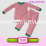 Wholesale Christmas pajamas family set cotton blank pajamas boys girls stripe children's Christmas pajamas