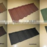 Hot sale Colorful stone-coated metal Roman roof tile