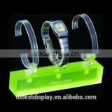 2016 new style Shenzhen factory luxury neon acrylic watch display stand/wrist watch holder/wrist watch display stand manufacture