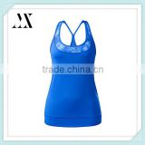 2016 latest design ladies top lightweight four-way stretch tank top with breathable sport bra