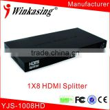 Manufacrurer product 1x8 hdmi splitter and combiner YJS-1008HD