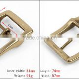 High quality nickel free solid brass 41mm belt slide buckle metal double buckle/adjustable buckle for belts