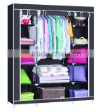 folding non-woven fabirc model cheap corner bedroom wardrobe