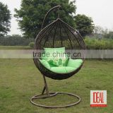 China outdoor furniture garden/patio outdoor rattan hanging egg chair wholesale