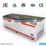 commercial auto defrost island chest freezer for supermarket