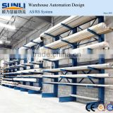 warehouse aluminium pipe storage rack with cantilever arm