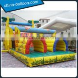 customized kids inflatable obstacle course/ jungle adventure inflatable bouncy toy