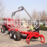 High quality ZM12006 12 Ton Log loading trailer with Crane for sale