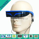 New Private mold home theater projector 1080P 3D portable video glasses with 1800mAh Li-Polymer battery