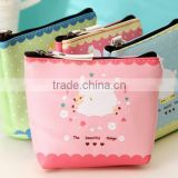 Fancy Promotion gift cute PU Leather Zipper Mini small cheap cartoon animal printed pouch Coin Purse wallet euro coin purse