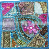 Bohemian Tribal Indian Vintage sari patchwork cushion covers sequins beads embroidery amazing craft