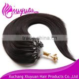 Cheap virgin human hair extension easy loop micro ring