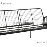 metal futon sofa bed full black