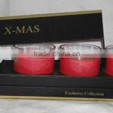 Customized X-mas/Noel Scented Soy Candle Set