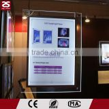 Factory directy sale LED slim lightbox acrylic picture frames