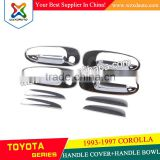 SET CHROME DOOR HANDLE COVER AND SET CHROME DOOR HANDLE BOWL HANDLE COVER+HANDLE BOWL FOR TOYOTA COROLLA 1993-1997