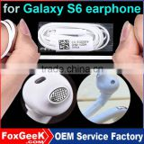 Original Quality in-Ear Earphone with Flat Cable Mic Microphone Stereo Beats Wired for Samsung Mobile Phone Galaxy S6/S6 Edge