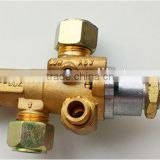 Hot sale gas auto shut-off safely brass control valve with pilot fire port for gas stove
