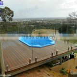 Pool frameless tempered glass balustrade with spigots/semi-frameless glass railing/railing (PR-B1004)