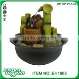 Indoor bamboo table top water fountain Asian zen desktop home decor