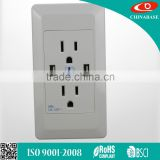 china manufacture socket usb to wall USB Wall Socket USA 2.1 A
