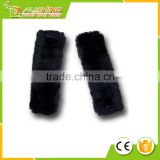 Wholesale car gift Soft Sheepskin Seat Belt Black Shoulder Pad- Two Packs- A Must Have for Car Owners for a More Comfortable