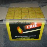 Cardboard/wooden safety matches from india