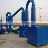 0.8~1t/h capacity double furnace wood sawdust hot air dryer from China reliable supplier