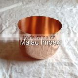 New design India made rose gold copper candle jar