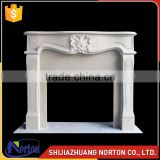indoor stone carved flower fireplace with fireplace core NTMF-F530X