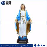 Catholic elegance resin virgin mary baby jesus statues
