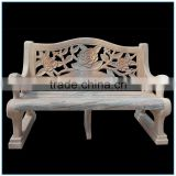 Western Style Outdoor Red Marble Bench