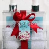 3 PCS BATH SET W/WIRE BASKET