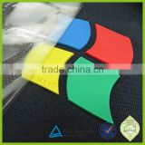 OEM your design 3d raised rubber pvc brand logo heat transfer silicone