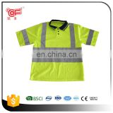 100% Cotton reflective polo t-shirt on road safety KF-139-G