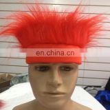 custom spirit logo headband of crazy hair wig