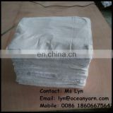 white cleaning cotton rags