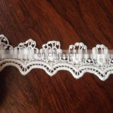 40 mm wide Cream Cotton Thread Water-soluble Lace