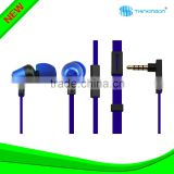 In-ear Earbuds Headphones Earphones with Microphone (Blue)
