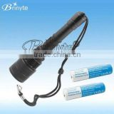 Brinyte DIV04 Professional CREE LED Rechargeable 18650 Battery Powered LED Torch Diving Light CREE