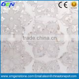 Hot New Design Factory Supply Marble With Pearl Glass Waterjet T Stone Marble Medallion                                                                         Quality Choice