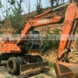 Wheel moving type Daewoo 130W wheel excavator used condition Daewoo 130w 13t wheel excavator second hand Daewoo 13t wheel