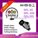 Ledy 10w projector 1100lm led U-type indoor logo gobo lamp for sign decor or company logo