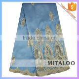 Mitaloo Good Price Cloth Material Lace Fashion Design African Raw Silk George MGP1010