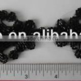 BLACK COLOR HAND MADE GLASS BEADS APPLIQUE PATCH FOR SEW ON CLOTHING OR CLOTHING NOTION ITEMS DECORATION