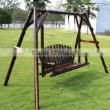 Outdoor solid wood outdoor garden swing hanging wooden swing