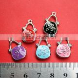 Custom made jewelry bags pendant for jewelry Super cute bag pendant Silver jewelry love bag pendant