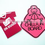 baby on board car window hanging signs