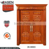 flower carving double swing main entrance hand carved teak wood doors                                                                         Quality Choice